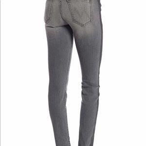 High waist grey striped skinny jeans!
